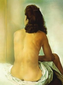 1960_16_Gala Nude From Behind Looking in an Invisible Mirror, 1960