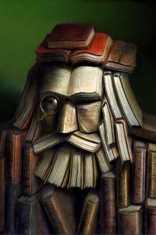 escultura de libros biblioteca duitama