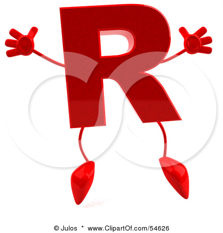 54626_Royalty_Free_RF_Clipart_Illustration_Of_A_3d_Red_Letter_R_With_A